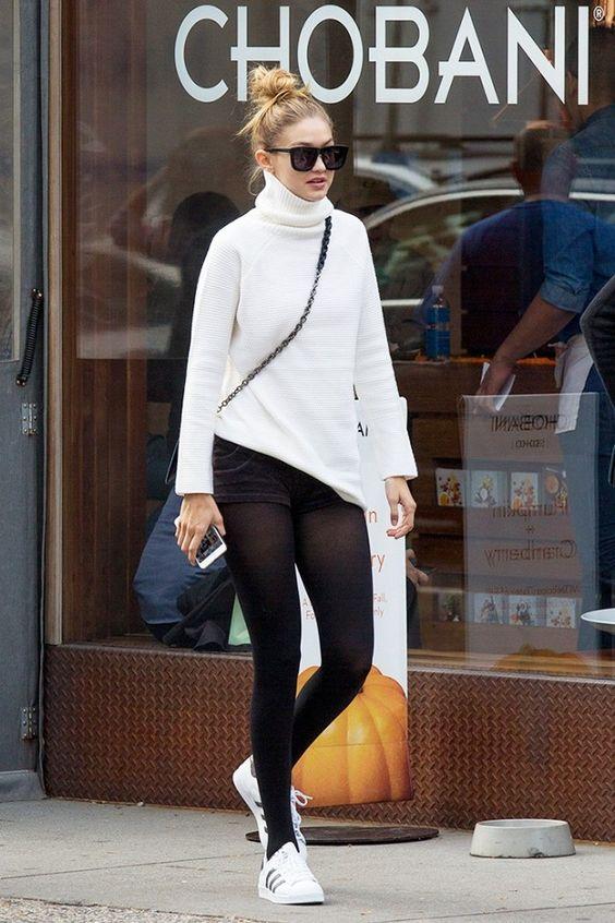 Gigi Hadid a sneakery adidas superstar